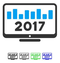 2017 chart monitoring flat icon vector