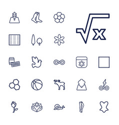 22 pattern icons vector