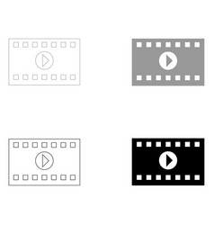 A frame from a movie the black and grey color set vector