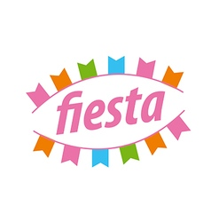 Abstract logo with flags for the fiesta vector