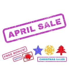 April Sale Rubber Stamp vector image