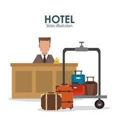 Bellboy hotel service icon vector