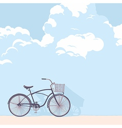 Bicycle and clouds vector