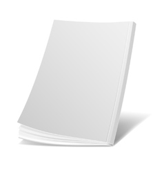 Blank flying white magazine cover book booklet vector image
