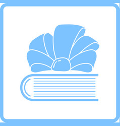 Book with ribbon bow icon vector