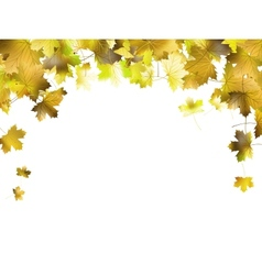 Border frame of colorful autumn leaves EPS 10 vector image