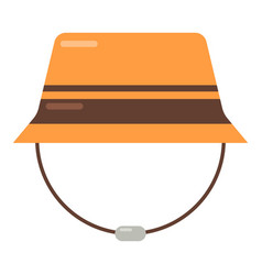 bucket hat icon flat style vector image