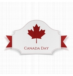 Canada day holiday label with ribbon vector