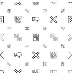 cancel icons pattern seamless white background vector image