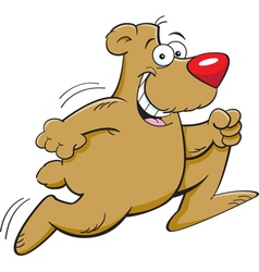 Cartoon Bear Running vector image