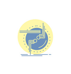 Chain connect connection link wire glyph icon vector