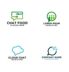 chat talk logo vector image