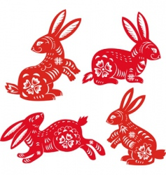 Chinese zodiac rabbit vector