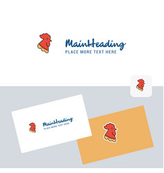 cock logotype with business card template elegant vector image