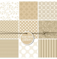 Colorful cute seamless patterns vector image