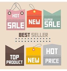 Colorful Retro Paper Sale Labels Tags Set vector image