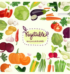 colorful vegetables background vector image