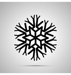 complicated snowflake simple black icon vector image