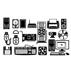 computer hardware icon vector image
