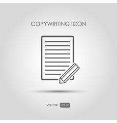 Copywriting icon in linear style vector image