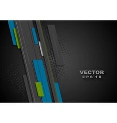 Dark tech background vector image