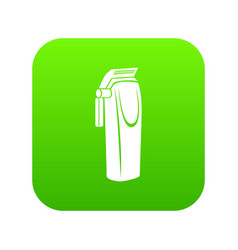 Electric razor icon green vector
