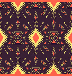 Ethnic seamless pattern geometric design vector