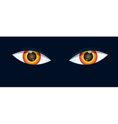 Eyes on black background vector