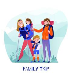 Family travelers vector