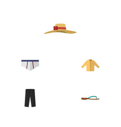 Flat icon garment set of banyan pants vector