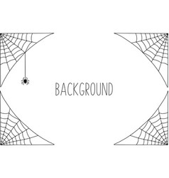 Halloween background design with black spider and vector