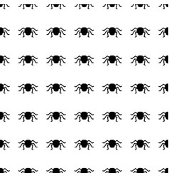 halloween seamless pattern with spider vector image