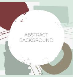 hand darwn abstract creative social media post vector image