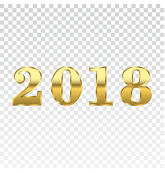 happy new year golden numbers vector image