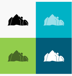 hill landscape nature mountain scene icon over vector image