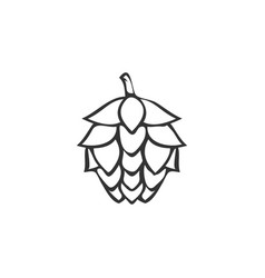 hops outline logo icon design template vector image
