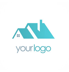 House roof realty business logo vector