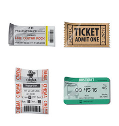 isolated object of ticket and admission sign set vector image