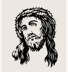 Jesus face vector