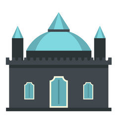 Kingdom palace icon isolated vector