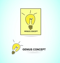 Light bulb genius concept logo icon vector image