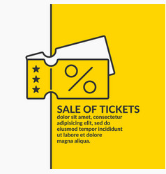 linear poster sale tickets graphics vector image