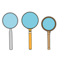 magnifying glass object vector image