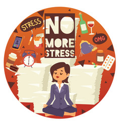 No more stress motivation background young calm vector