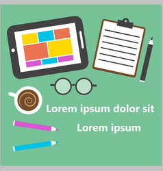 office and business work vector image