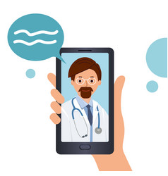 online consultation with a doctor call doctor vector image