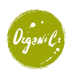 Organic hand drawn isolated label vector image