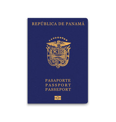 Passport panama citizen id template vector