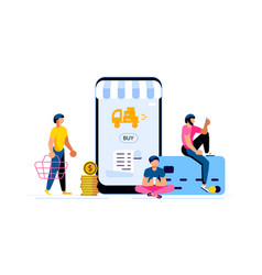 people shopping concept vector image