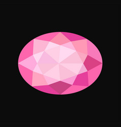 pink jewerly oval stone gemstone vector image